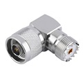 J UHFKW Male N Plug to UHF Female Right Angle RF Connector Adapter NEW High Quality