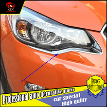Buy CAR-STYLING FIT FOR SUBARU XV 2012-2016 ABS CHROME FRONT HEADLIGHT EYEBROW EYELID TRIM COVER MOLDING GARNISH FRONT LAMP TRIM for $26.10 in AliExpress store