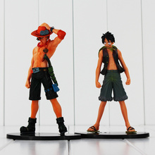Buy 2pcs/lot One Piece Anime PVC Toys Monkey D Luffy Portgas D Ace Action Figure Toys Collectible Model Dolls Kids 17CM for $8.37 in AliExpress store