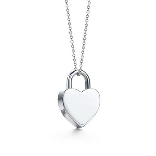 Wholesale Finest 925 Sterling Silver Padlock Necklace,Charming Vintage Elegant Lover Heart Designer New Fashion Necklace Jewelry(China (Mainland))