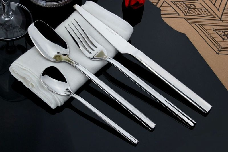 4PCS Stainless Steel Flatware Set Service Cutlery Silverware Tableware(China (Mainland))