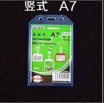 Waterproof Certificate Card Work Holder Lanyard Chest Soft Vertical Soft Plastic Badge Holder Horizontal ID Name Card(China (Mainland))