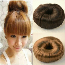 3 Colors Women Girl Modern Korean Style Donut Hairpiece Hair Band Rope Coil Updo Maker Accessories Free Shipping(China (Mainland))