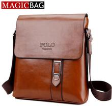 MAGICBAG Luxury designer casual men's Leather bags for Men Shoulder Bag travel bags POLO famous brand male messenger bags
