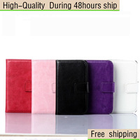 Crazy Horse Oil Wax Leather Case Cover With Photo Frame For Samsung Galaxy Young 2 G130H Free Shipping