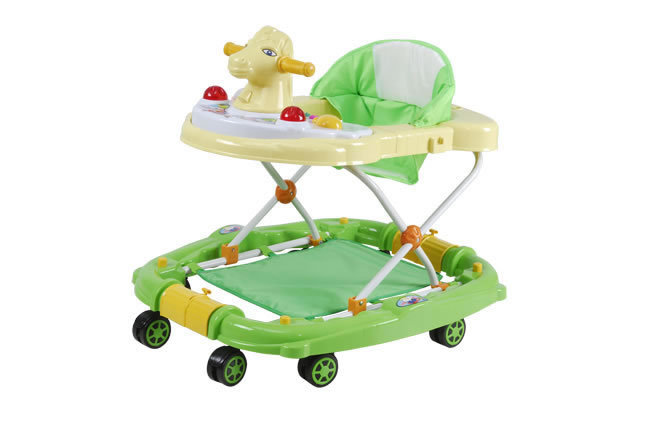 cheap plastic baby walker functional big wheels rolling walker/carrier