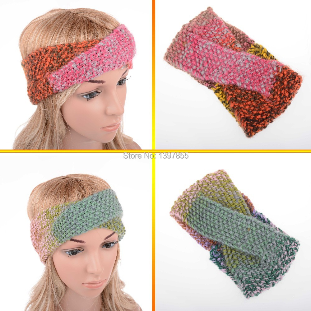 Fashion Hot Hair Band Accessories Mix Color Cross Style Winter Warm Headwrap for Women Ladies Girls Children Kids(China (Mainland))