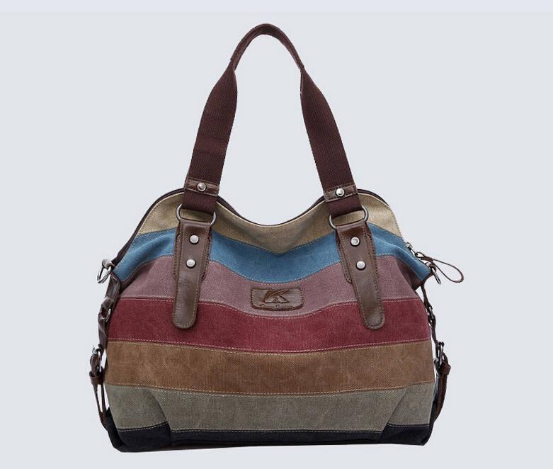 Bolsa De Ombro De Lona Feminina : K de alta qualidade moda feminina bolsas da lona super