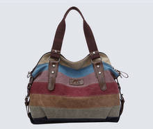 K-988 high quality Fashion women Bags Canvas Super patchwork canvas bag Shopping  Handbag Casual Shoulder Bag w52