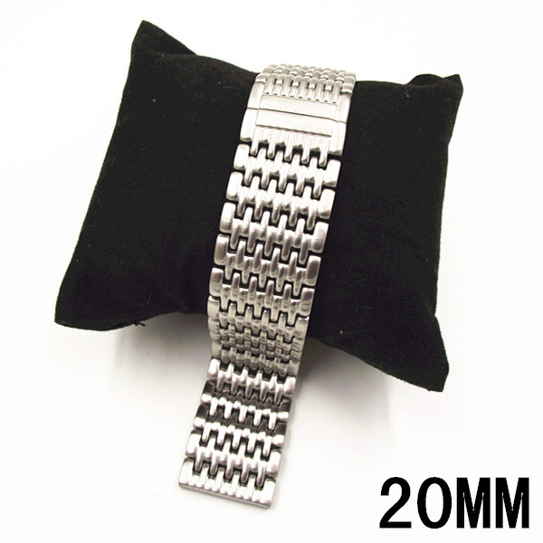1PCS High quality 20MM Stainless steel watch strap silver color Watch band women and men watch strap -WBT001<br><br>Aliexpress