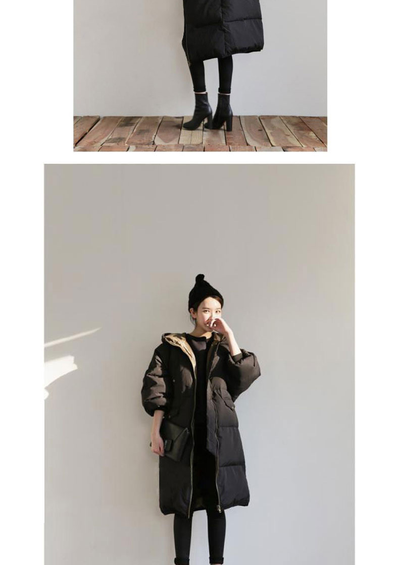 [XITAO] 2016 Korean fashion new arrival women solid color long loose cotton padded thickened female wholesale parkas SXG003