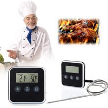 V1NF Eddingtons Профессиональной Цифровой Таймер Термометр Для Мяса Дистанционного Зонд Духовка Бесплатная Доставка
