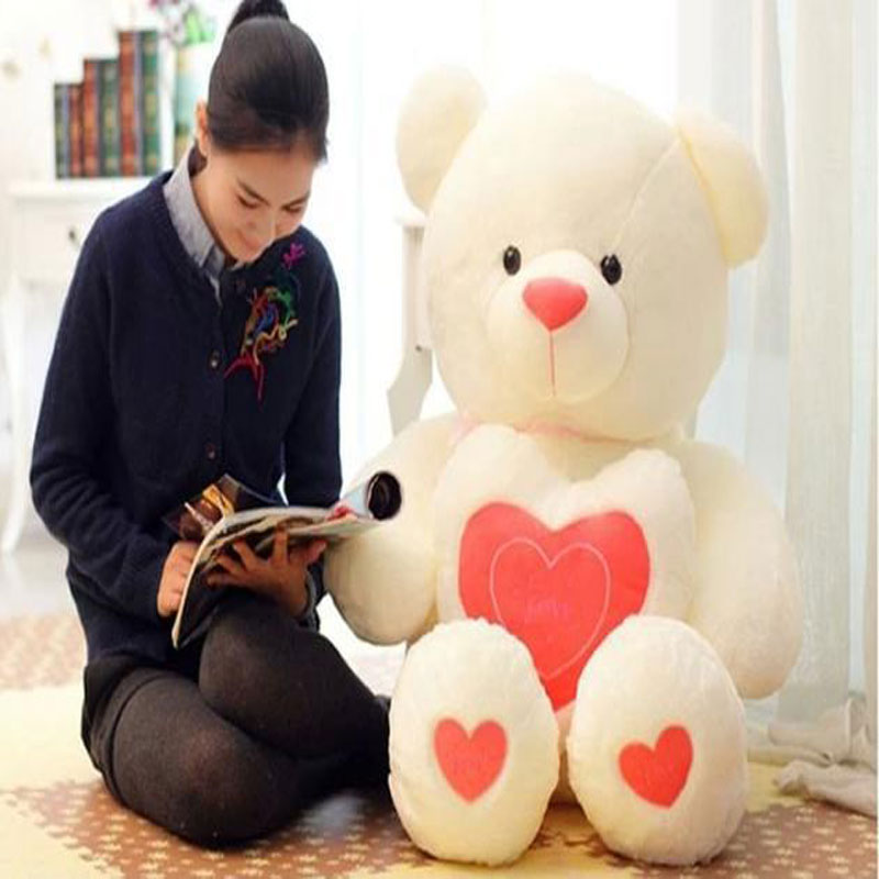 Manufacturers selling new LOVE embrace heart bear 60 cm plush toy teddy bear 3 color optional doll(China (Mainland))