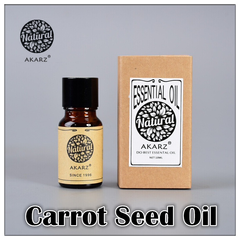 AKARZ Famous brand pure natural carrot seed essential oil Improve skin color elasticity Detox(China (Mainland))