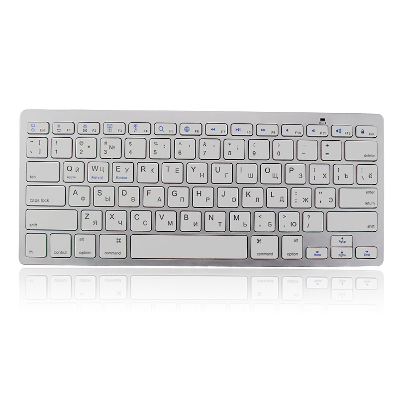 New Ultra-thin Multimedia Wireless Bluetooth Keyboard For iPad iPhone Macbook Android Tablet PC XXM(China (Mainland))