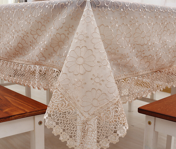 New Hot Europe Style Embroidery Double Glass Yarn Table Cloth Round Solid Table Cover Handmade Crochet Overlays For Home(China (Mainland))