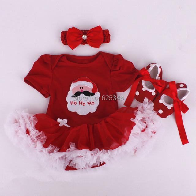 Розничная 2016 baby rompers для рождественские одежды младенца девушка одежда с волос и обувь Мультфильм костюм девушки рождественские костюмы