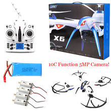 Free Shipping! JJRC H16 Tarantula X6 drone 4CH RC Quadcopter 5MP Cam Hyper IOC+4 Motor+Battery