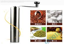 Silver Stainless Steel Hand Manual Handmade Coffee Bean Grinder Mill Kitchen - Zhengzhou Haoqili Machinery Co.,Ltd store