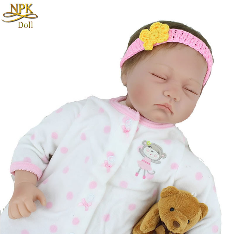 22'' Real Lifelike Reborn Baby Alive Doll Soft Vinyl Silicone Sleeping Babies For Sale Toddler Girls Toys(China (Mainland))