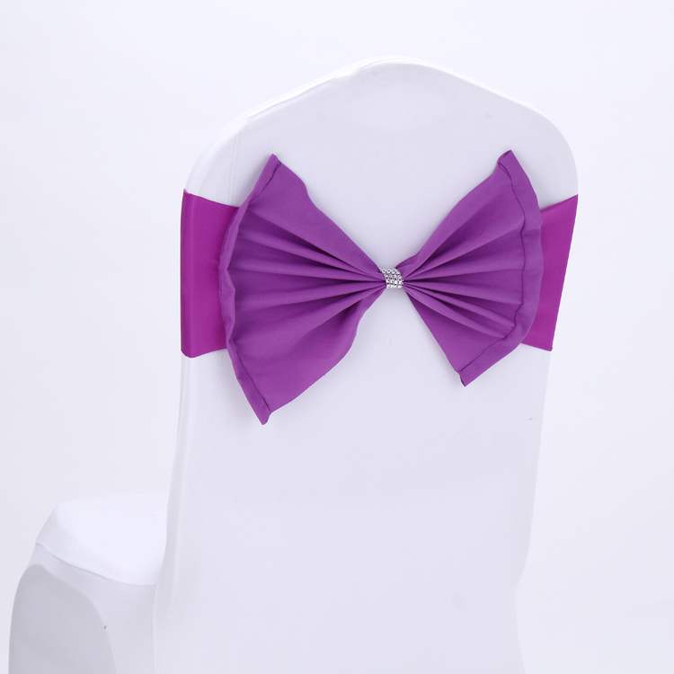 Free Shipping 30PCS Plain Chair Bands Butterfly Chair Back Bow-Ties Elastic Chair Bands For Wedding Decors Party Supplier CBB30(China (Mainland))