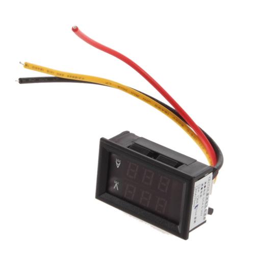 100V 100A Voltage Voltmeter Ammeter 2in1 DC Volt Amp Dual Display Panel Meter Red Blue Digital LED with Current Ampere Shunt
