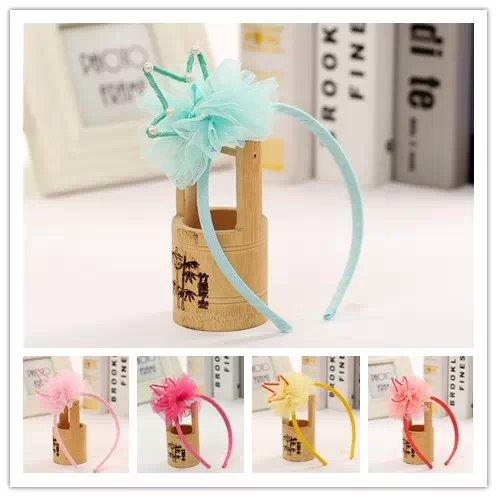 Crown Pearl gift children kids baby girls hair accessories hair bands headwear bow flower Retail wholesale Boutique tiara GG-190(China (Mainland))