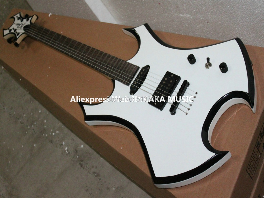 Wholesale Guitar New Arrival White BC Rich Electric Guitar Beauty High Quality Free Shipping(China (Mainland))