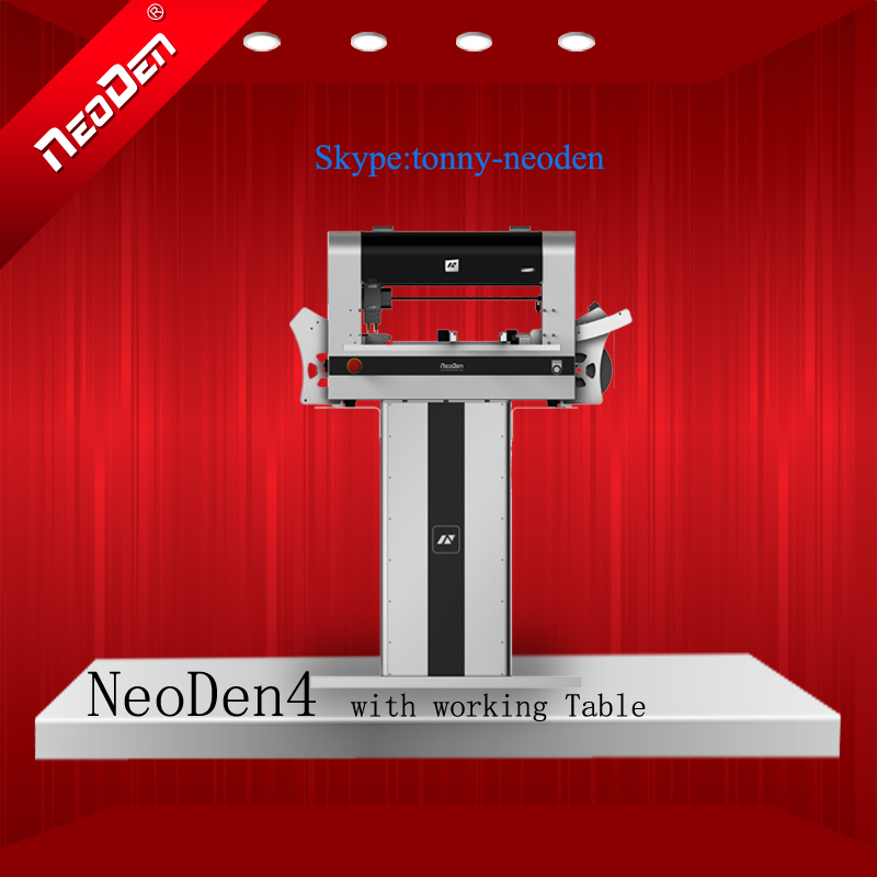 SMT Machine/Smt Pick and Place Machine/PCB Surface Mounting Machine/PNP Machines NeoDen4 With rails+Working Table(China (Mainland))
