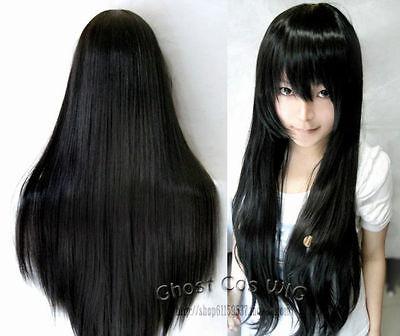 Puella Magi Madoka Magica Akemi Homura Long Black Cosplay Party Wig<br><br>Aliexpress