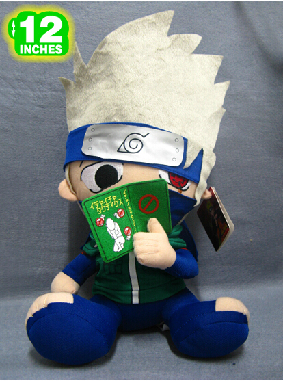 "Free Shipping 12"" Japanese Anime Naruto Plush Toy Cute Hatake Kakashi Dolls Stuffed Toys Classic Toys For Kids Baby Toy(China (Mainland))"