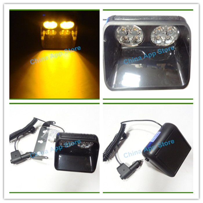 S8 24w DC12V hazard 8led MINI 2X4/ 8 LED Emergency flashing strobe light bar warning light lamp of windshield sucker visor lamp(China (Mainland))