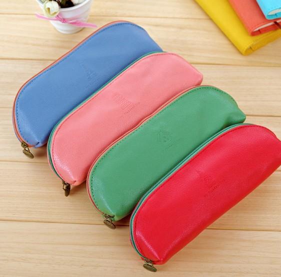 New Vintage My Pleasant Trip series pencil Pencil bag/Cute Solid Colour clean up bag<br><br>Aliexpress