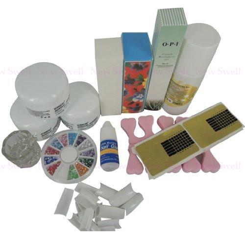 Profissional Kit de unhas de acrílico pó líquido escova de óleo de cutícula das unhas ferramentas cola forma