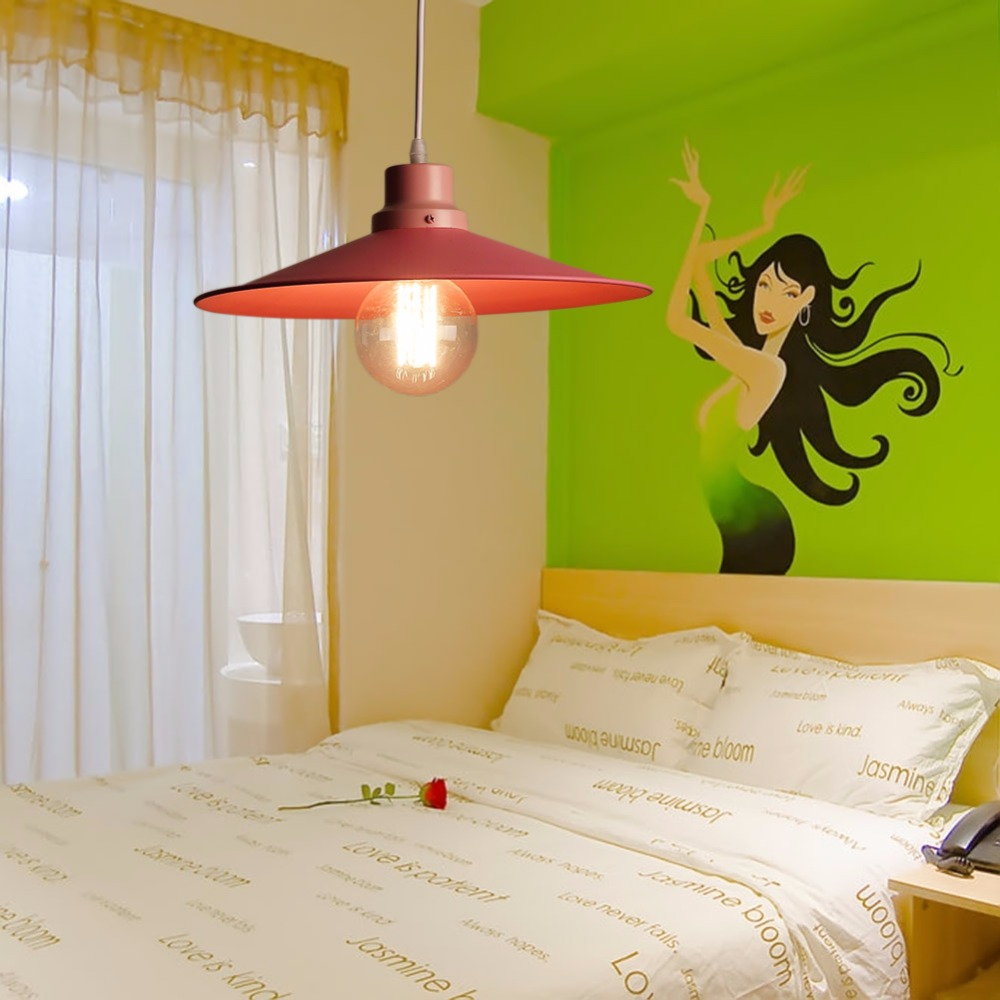 European fashion Pink Pendant Lights lamps restaurant Pendant lamps light lustre Umbrella pendant lamp E27 Free Shipping(China (Mainland))