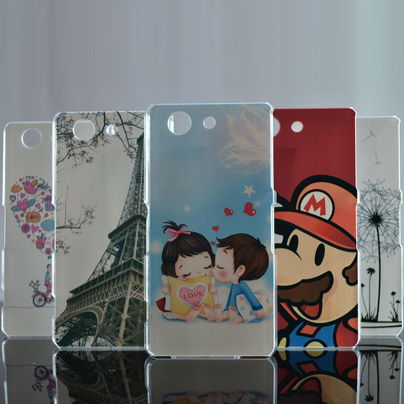New Hot High Quality Painted Cute Cartoon UV Print Hard Housing Cover Case For SONY Xperia Z3 Compact Z3 mini M55W Cases Shell(China (Mainland))