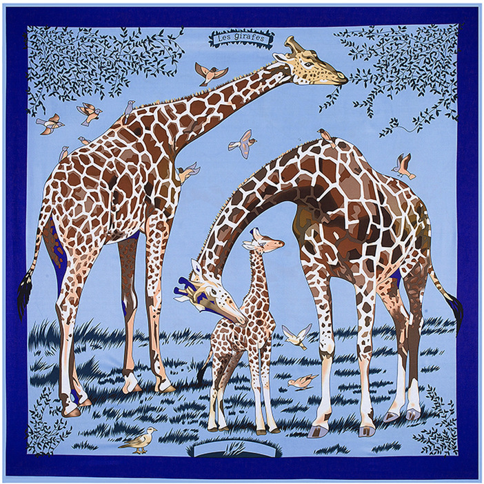 The New Autumn And Winter Female Giraffe Large Square Silk Scarf Shawls And Scarves Brand Scarf Lencos De Pescoco(China (Mainland))
