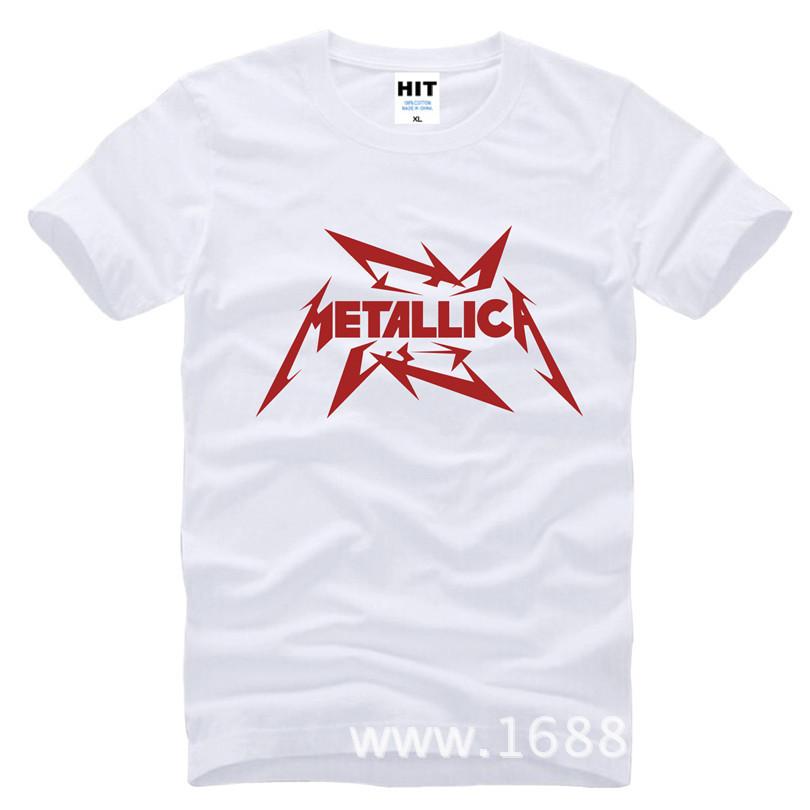 MeTallica T Shirts Men Heavy Thrash Metal Rock T-shirt Short Sleeve Cotton Rock Band T-Shirt Camisetas Masculina SL-267(China (Mainland))