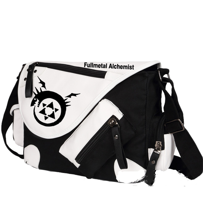 Top Quality Fullmetal Alchemist Cosplay Messenger Bag Students Shoulders Bags Free Shipping<br><br>Aliexpress
