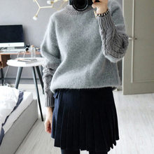 Hot Sale Women Sweaters And Pullovers 2016 New Fashion Europe Slim Retro Sweater Women Long Sleeved Women Sweaters S20158(China (Mainland))