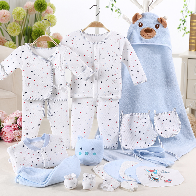 Фотография 100% cotton baby clothes newborn gift box autumn and winter the newborn baby products baby set