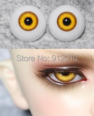 Bright Yellow BJD Doll Acrylic Eyes 12mm,14mm 16mm,18mm,20mm 1/6 1/4 1/3 YOSD MSD SD Doll Eyeball(China (Mainland))