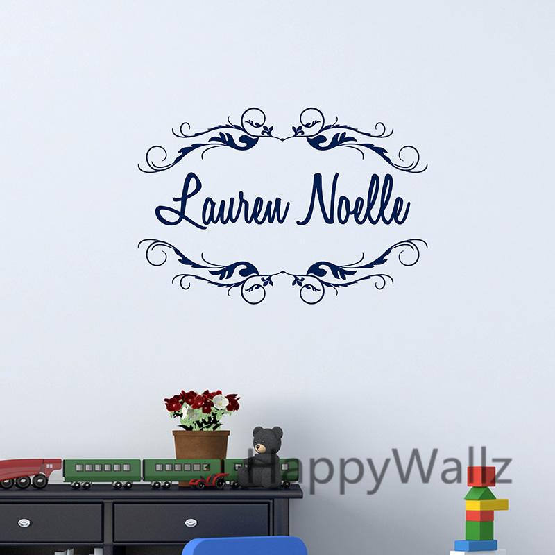 custom name baby nursery wall sticker diy personalized