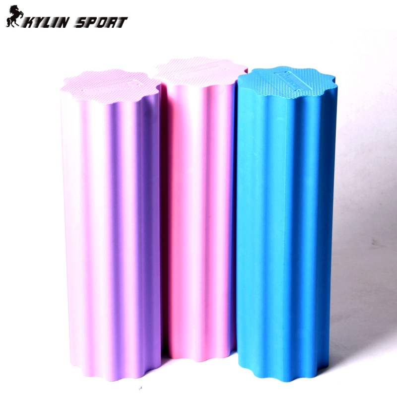 45cm foam roller Plum-shaped solid yoga column massage to relax column yoga stretching fitness for wholesale(China (Mainland))