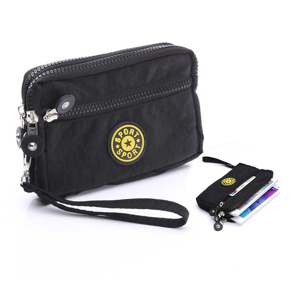 Waterproof Canvas Material Casual Sports Wallet Mobile Phone Bag Outdoor Cover Case For 5.7inch Phone Model Handbag Pouch Bag(China (Mainland))