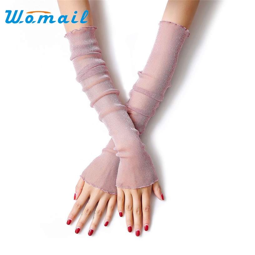 Womail 52cm Fashion Clothing accessories fingerless Long sunscreen UV thin lace Arm Warmers summer for women Drop #20 Gift(China (Mainland))