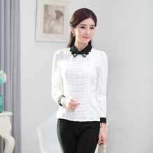 Buy 2017 Fashion OL Formal Chiffon Blouses Long Sleeve Turn-down Collar Women Shirts Office Lady Occupational Clothing Tops Blusas for $14.65 in AliExpress store