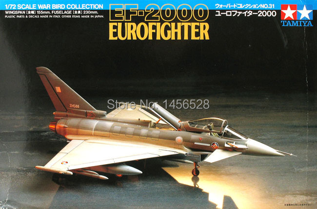 Tamiya scale airplane model plastic 1/72 scale model 60731 aircraft EF-2000 Eurofighter Assembly Model kits scale airplane(China (Mainland))