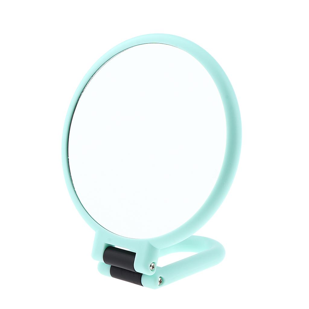 Складной портативный 2 Двусторонняя макияж зеркало обычное/увеличительное Foldable Handheld 2 Sided Makeup Mirror Normal / Magnifying Mirror Hang Shaving Mirror
