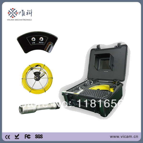 20m Fibreglass Cable Sewer Pipe Inspection Camera Set with Counter Device V8-3188KC(China (Mainland))